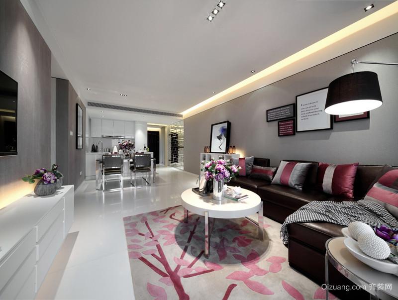 简欧风格三居室客厅餐厅隔断设计效果图赏析