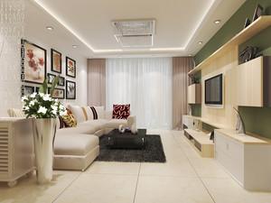 欧式田园风格小户型客厅照片墙设计效果图鉴赏