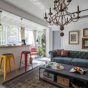 美式风格别墅室内客厅吧台设计装修效果图赏析