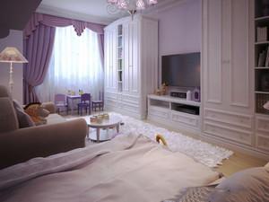 欧式风格客厅电视组合柜装修效果图
