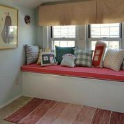 美式田园风格温馨舒适飘窗设计装修效果图