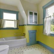 清新美式风格别墅卫生间装修效果图赏析