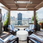 现代简约风格楼顶花园设计装修实景图赏析
