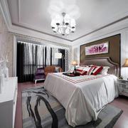 32平米后现代风格卧室背景墙装修效果图赏析