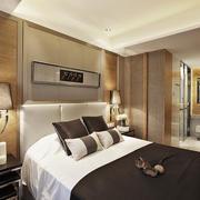 28平米新中式风格卧室装修效果图鉴赏