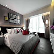后现代风格二居室卧室背景墙装修效果图赏析