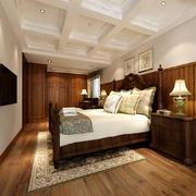 古典美式风格大户型卧室吊顶装修效果图鉴赏