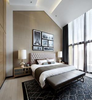 19平米现代中式风格阁楼卧室装修效果图