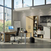 现代简约风格大户型书房设计装修实景图
