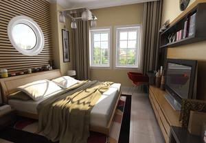 简约后现代风格卧室背景墙装修效果图赏析