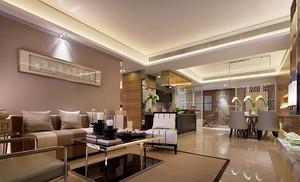 新中式风格两室两厅一卫室内足彩导航效果图赏析