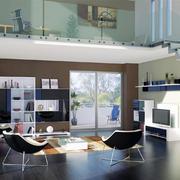 现代简约风格小户型错层客厅装修效果图