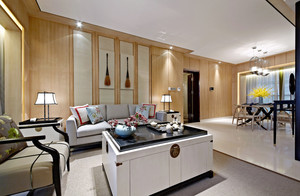 中式风格三室两厅一卫室内装修效果图赏析