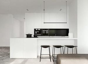 现代极简主义风格大理石厨房设计装修效果图大全