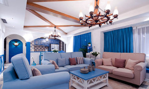 155平米地中海风格大户型室内装修效果图赏析