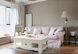 清新自然韩式田园风格两室两厅室内装修效果图
