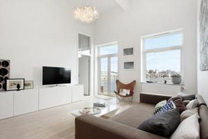 90平米现代loft风格白色主题室内装修效果图