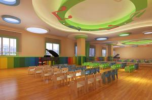 120平米现代风格幼儿园装修效果图鉴赏
