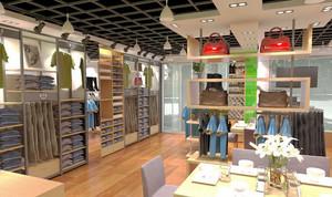 49平米现代风格服装店设计装修效果图