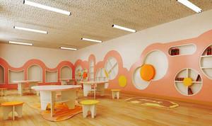 66平米现代简约风格幼儿园教室装修效果图