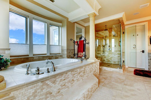 欧式风格大户型卫生间淋浴房装修效果图赏析