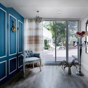 蓝色经典地中海风格大户型衣帽间装修效果图