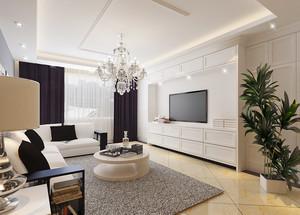 100平米欧式风格客厅吊灯装修效果图鉴赏