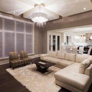 现代简约风格三居室室内客厅吊顶装修效果图