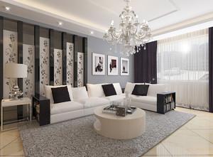 120平米现代风格客厅吊灯装修效果图赏析