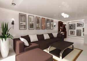 现代简约风格二居室客厅装饰画装修效果图