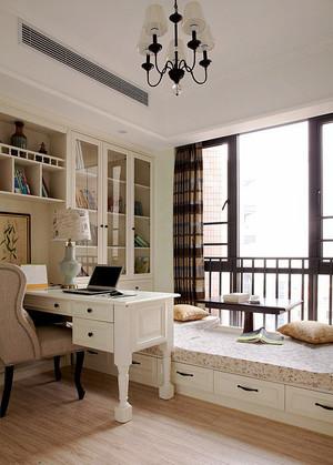 现代简约美式风格书房榻榻米装修效果图赏析