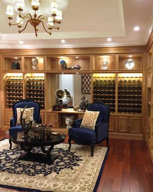 古典欧式风格别墅室内酒柜设计装修效果图