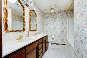 欧式田园风格大户型室内卫生间瓷砖装修效果图