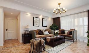 清新美式风格三室两厅一厨一卫室内装修效果图