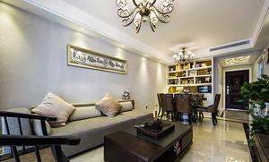 现代欧式风格两室一厅室内装修效果图赏析