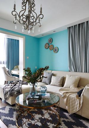 现代简约欧式风格三室两厅一卫室内装修效果图