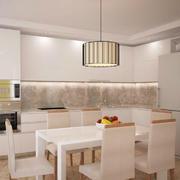 现代简约风格小户型餐厅吊灯装修效果图