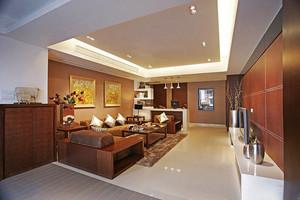 新中式风格三室两厅室内装修效果图赏析