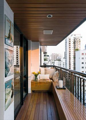 现代简约风格大户型阳台护栏装修效果图赏析