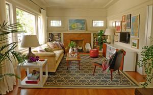 宜家清新自然风格两室两厅室内装修效果图赏析