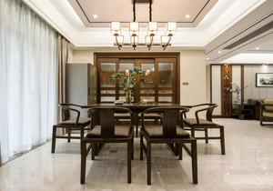 中式风格大户型餐厅背景墙装修效果图赏析