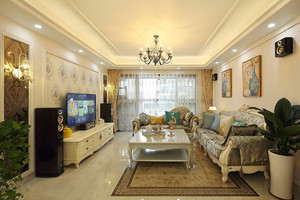 144平米精致欧式风格三室两厅室内装修效果图赏析
