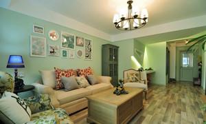 美式田园风格两室两厅一厨一卫室内装修效果图赏析