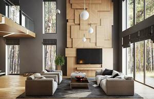 简约后现代风格别墅室内装修效果图赏析