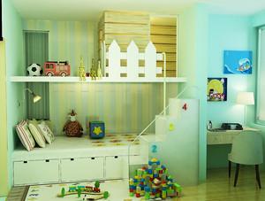 17平米现代简约风格儿童房装修效果图赏析