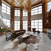 245平米后现代风格别墅客厅装修效果图赏析