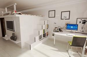 18平米北欧风格书房装修效果图赏析