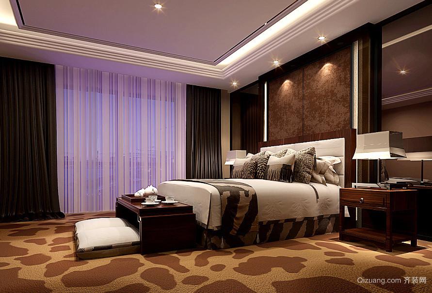 28平米后现代风格卧室窗帘装修效果图赏析