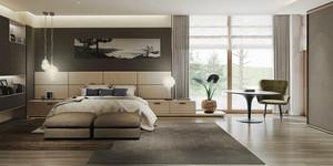 现代风格一居室灰色卧室装修效果图鉴赏
