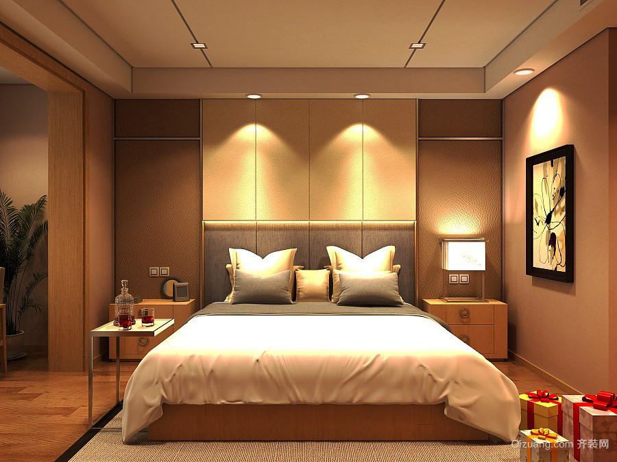 24平米现代风格卧室背景墙装修效果图鉴赏